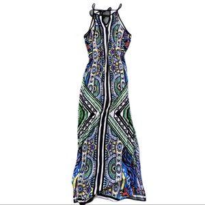 Alya Printed Aline Maxi Dress
